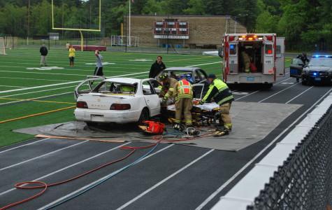Mock accident leaves impression