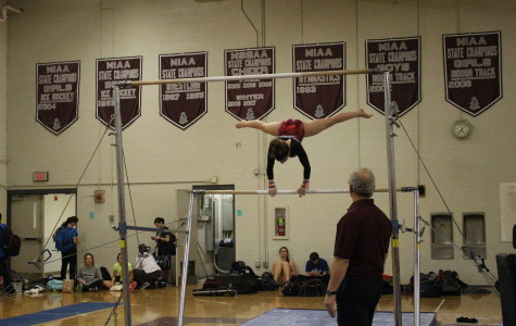 Girls' Gymnastics beats Hudson High