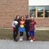 (From left to right) Seniors Emily Graziani, Hannah Chateauneuf, Catherine Grondine, and Bridget Gomes represent their inner superheroes with their spirit for the day, as their super strength shone on the court during the game.