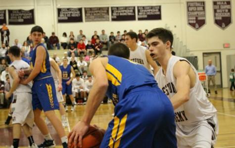 Boys' Basketball wins against rival AB 53-43