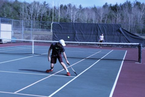 Boy's Varsity Tennis Wins First Game Against Chelmsford