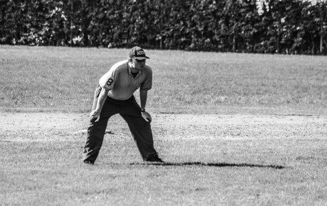 Scott Cruikshank behind home plate