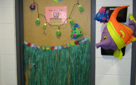Faculty even decorated their classrooms and doors.