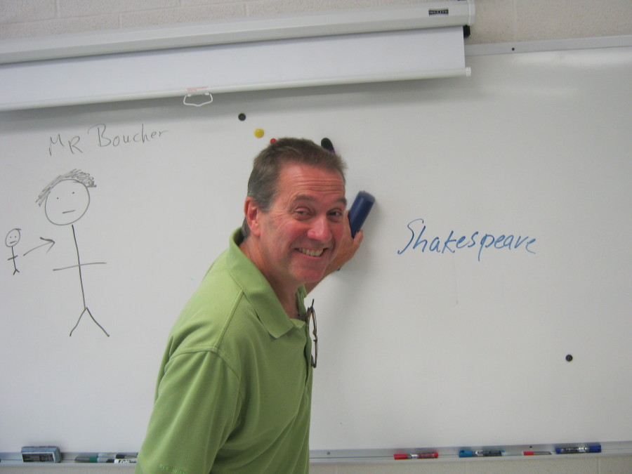 Jack Holbrook in his classroom.