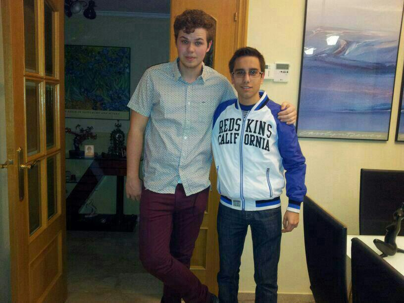 Adrián and myself before we went out one night.