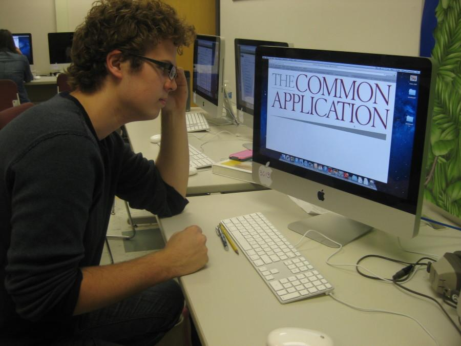 Students are finding frustration with the common application website.