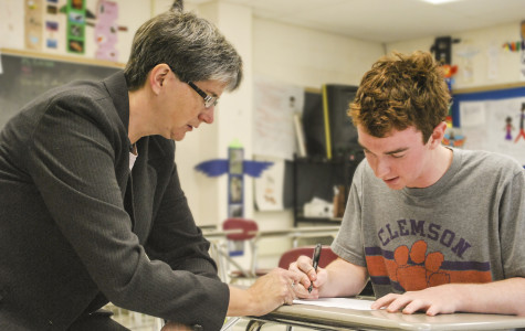 Janet Keirstead assisting a student
