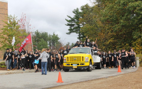 Seniors entering with a truck