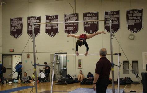 Girls' Gymnastics beats Hudson High