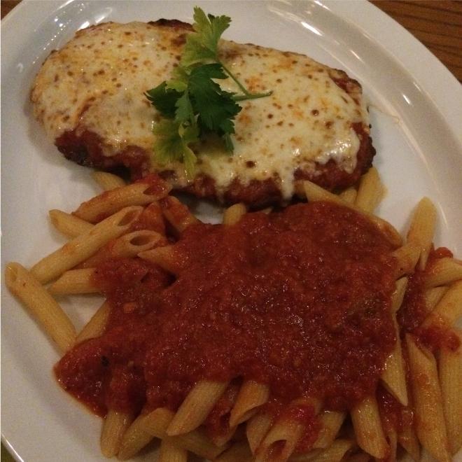 The main course at Aprile's European Restaurant
