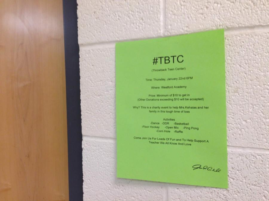 The flyers for the TBTC can be found throughout the halls and in classrooms.