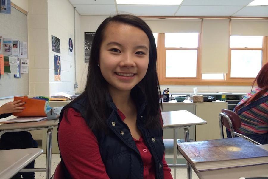 Senior Tiffany Lu Photo taken by: Kayla Chavier
