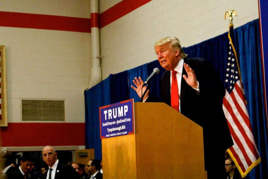 Presidential Candidate Donald Trump. Photo by Ciara Barstow.