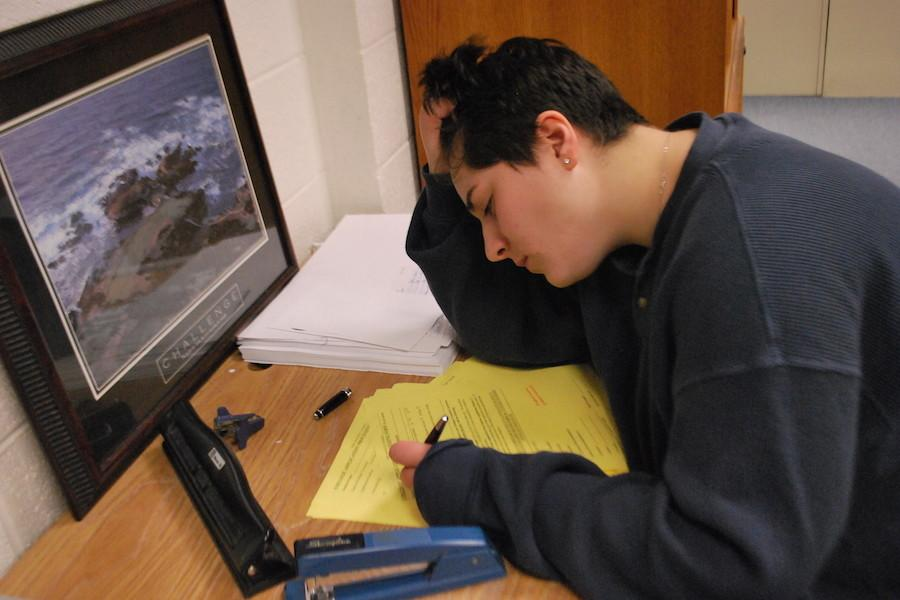 A student gets stressed about academics.