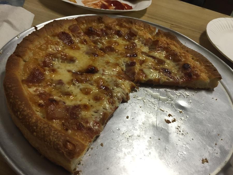 Small bacon pizza