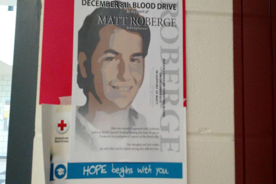 The teen center will help raise money for Matt Roberge, who is currently battling leukemia.