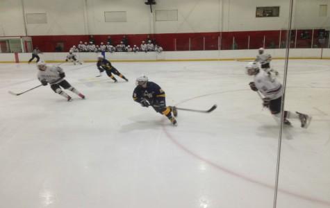 Boys' Hockey loses on Senior Night