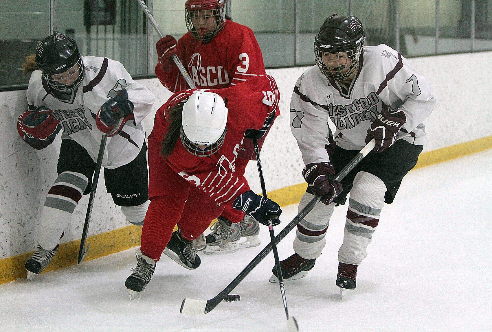 Alayna Serpa -(#7) captain of the 15-16 WA girl's hockey team