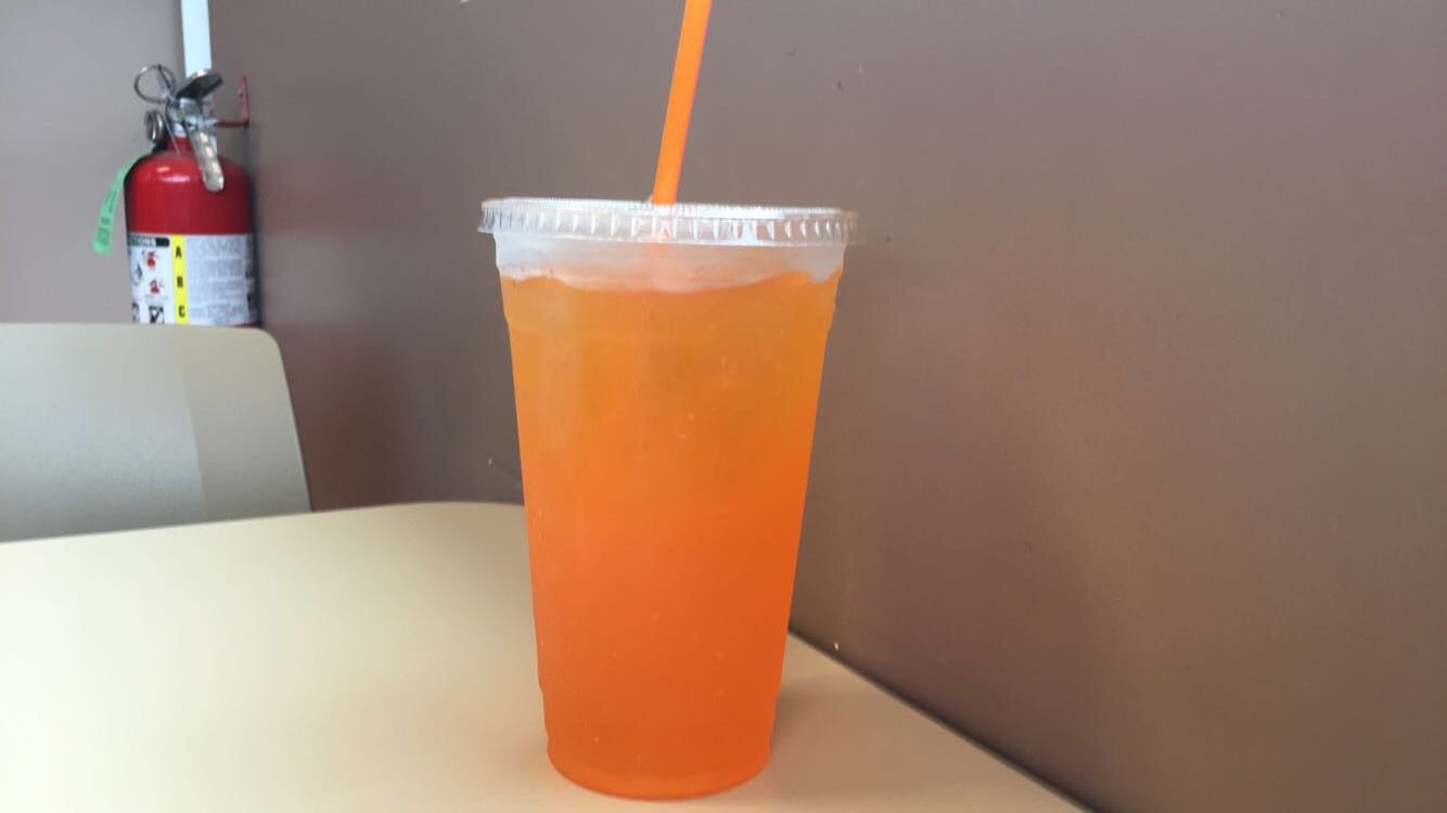 Example+of+a+drink+%28Powerade+Orange%29+that+can+be+purchased+at+the+machine