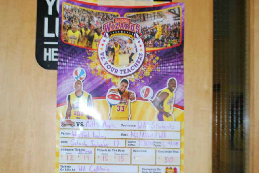 A poster advertising the Saturday game