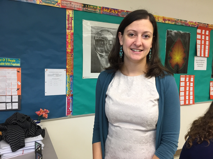 Mrs. McHugh in her classroom.