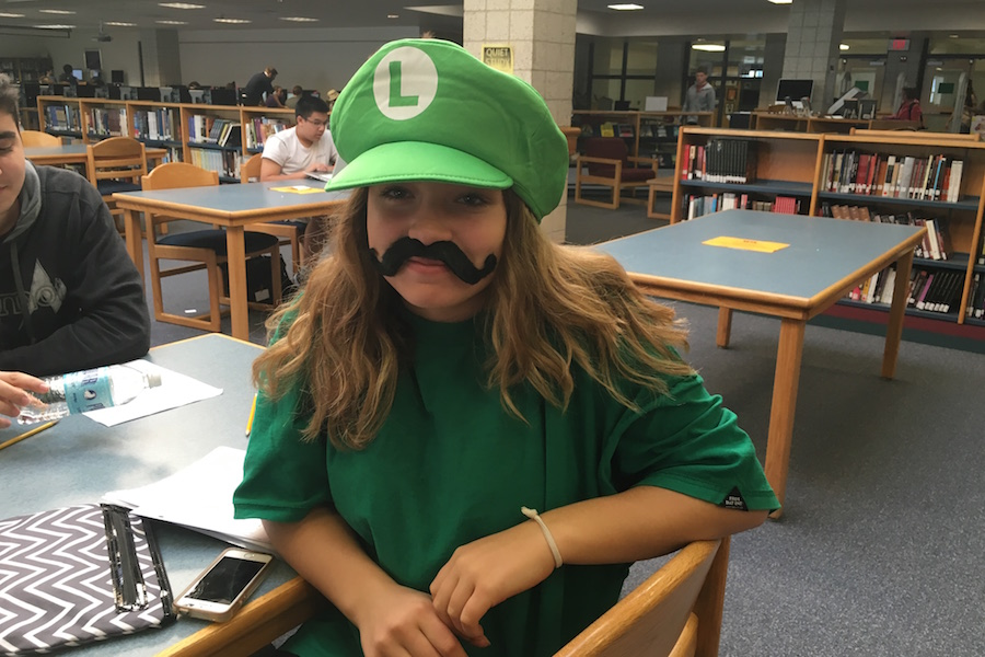 Jelina+Farrell+is+Luigi+in+the+library