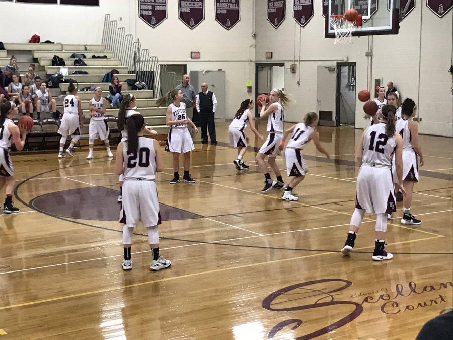 Girls' basketball defeats Wayland Knights 60-34