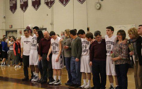 Boys' Basketball falls to AB 54-39 on Senior Night