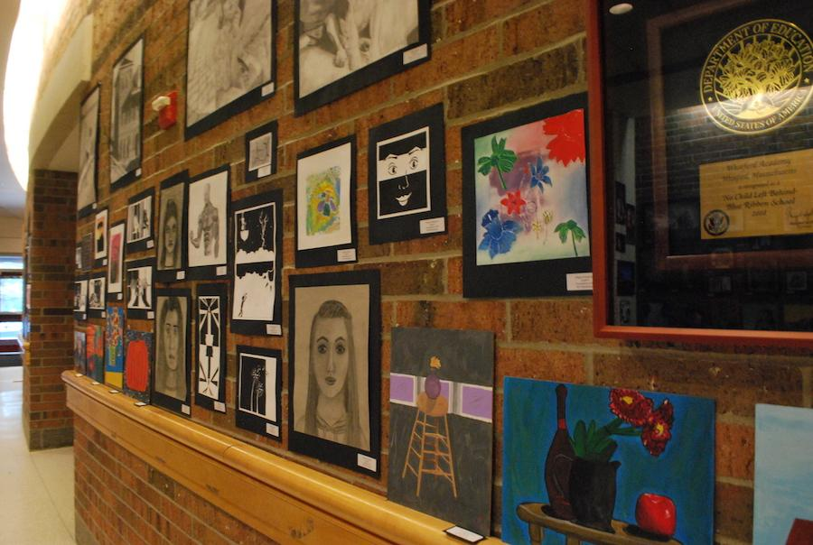 Art filled the Bell Lobby with color and expression.