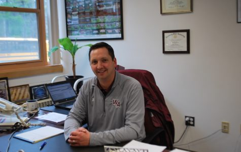Athletic Director Dan Twomey in his office