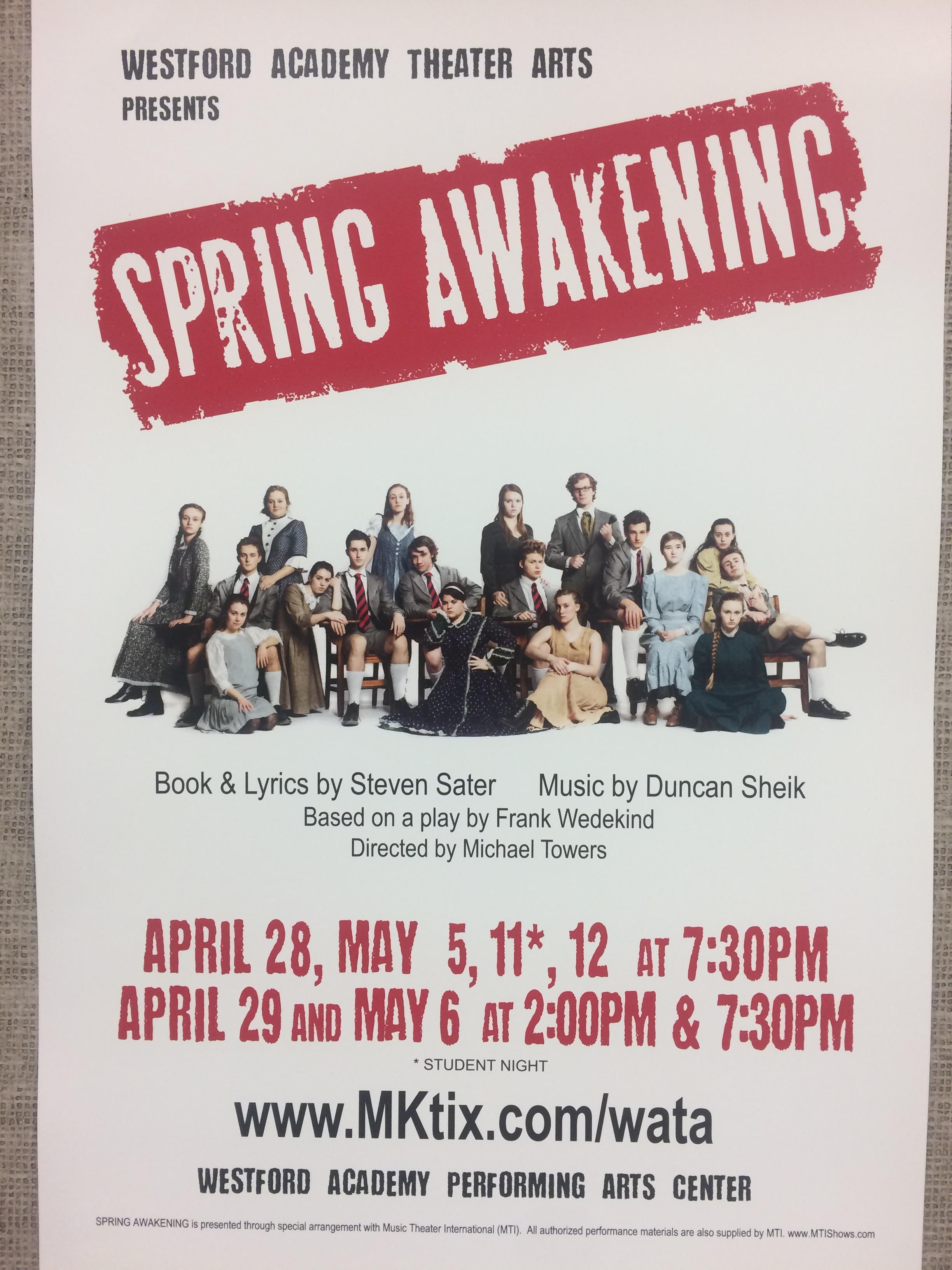 Spring Awakening arrives at WA