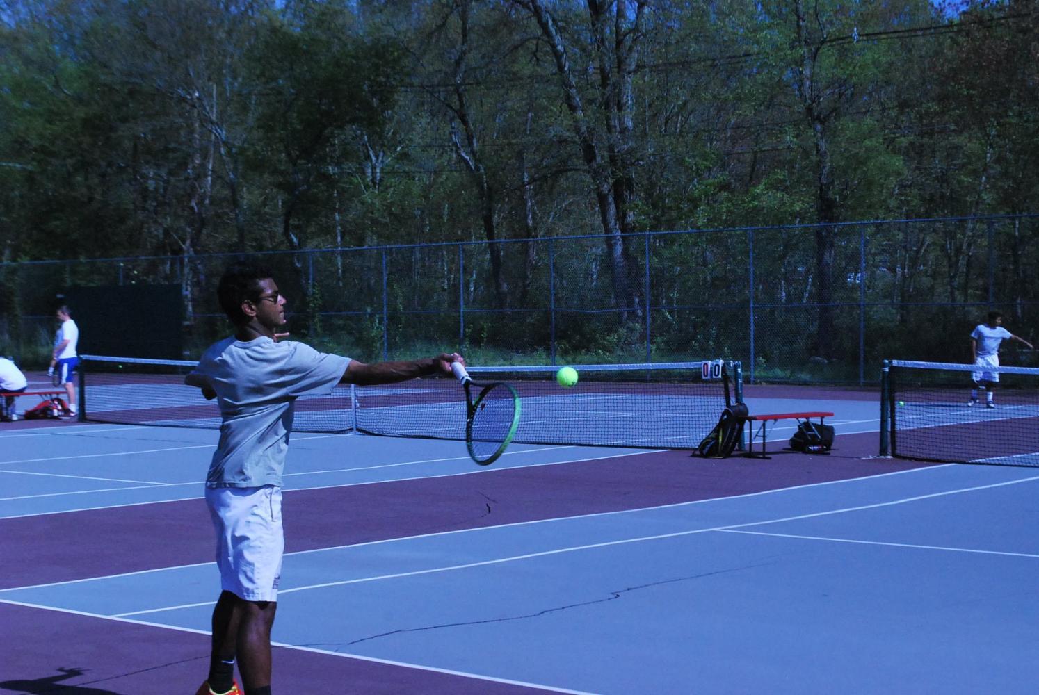 Saudip Manna facing Newton's Troy Manditch.