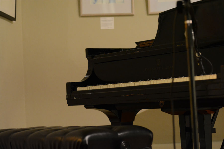The+piano+gets+set+up+for+an+upcoming+performance