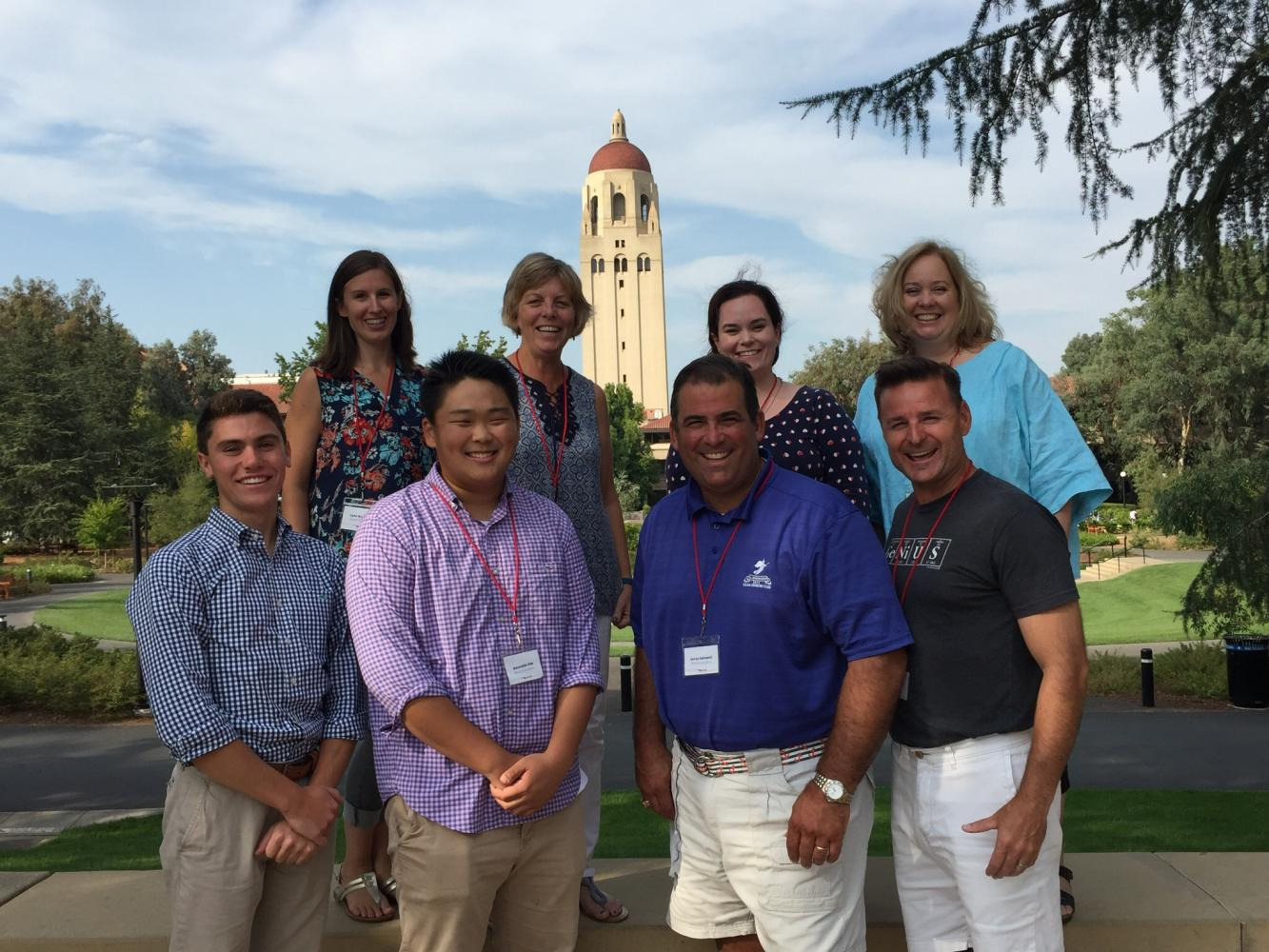 The group from WA at Stanford University