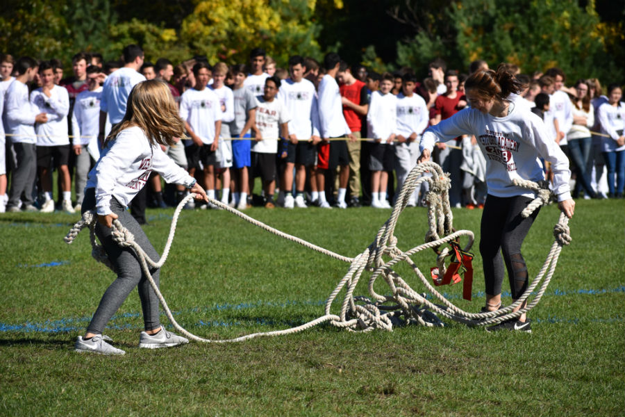 Students+council+members+set+up+the+field+for+tug+of+war