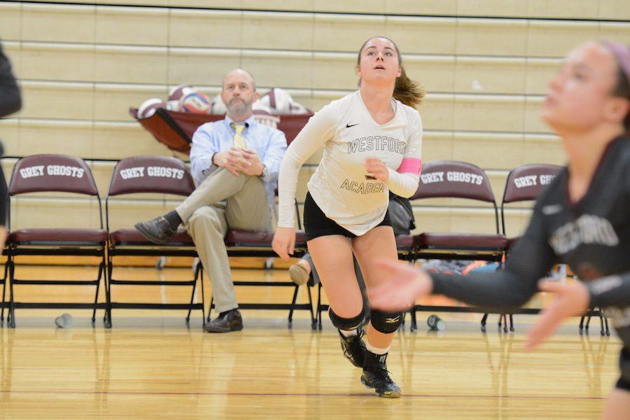 Senior captain Emily Doolin on the court