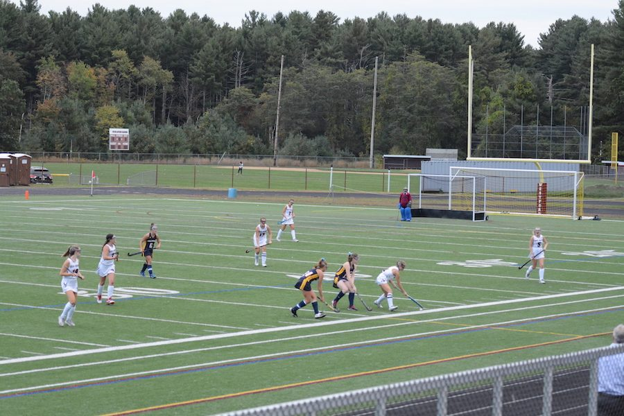 The Westford Academy girls varsity field hockey team faces off against rivals AB