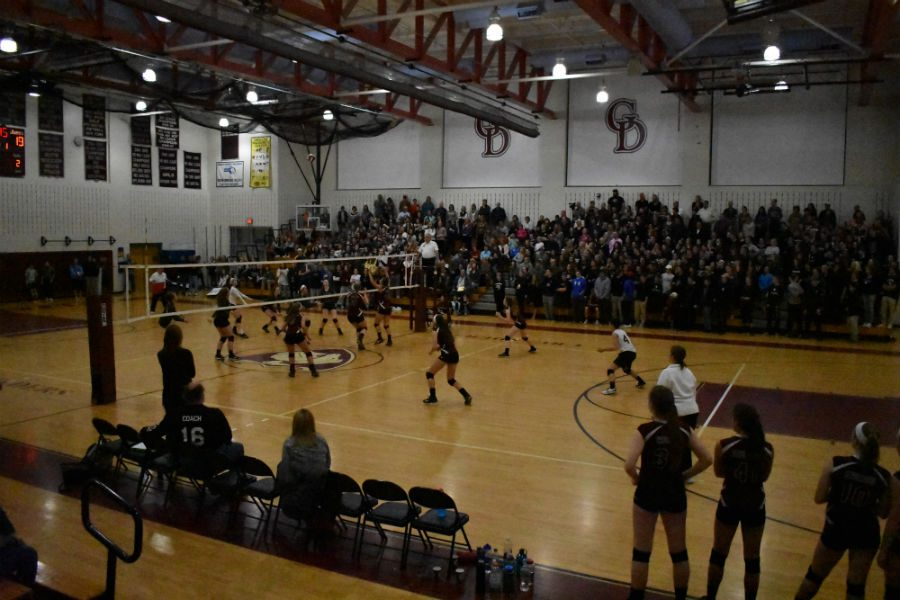 The+Varsity+Girls%27+Volleyball+team+plays+against+Groton-Dunstable+in+the+Regional+Semi-Finals