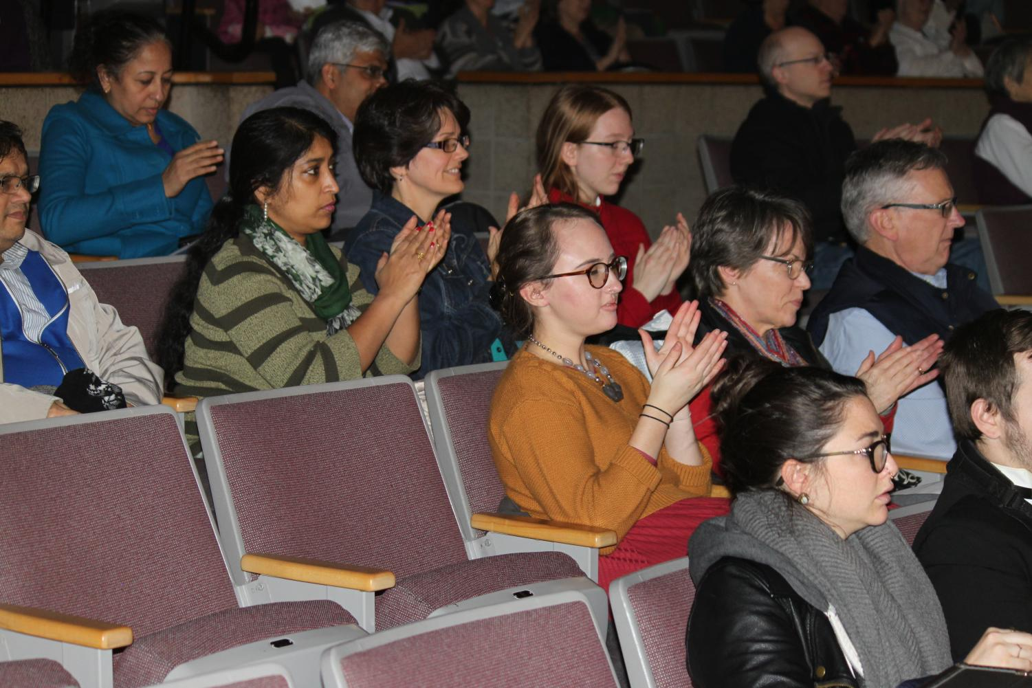 The+audience+of+parents%2C+WA+students%2C+and+faculty+applauds+after+a+piece