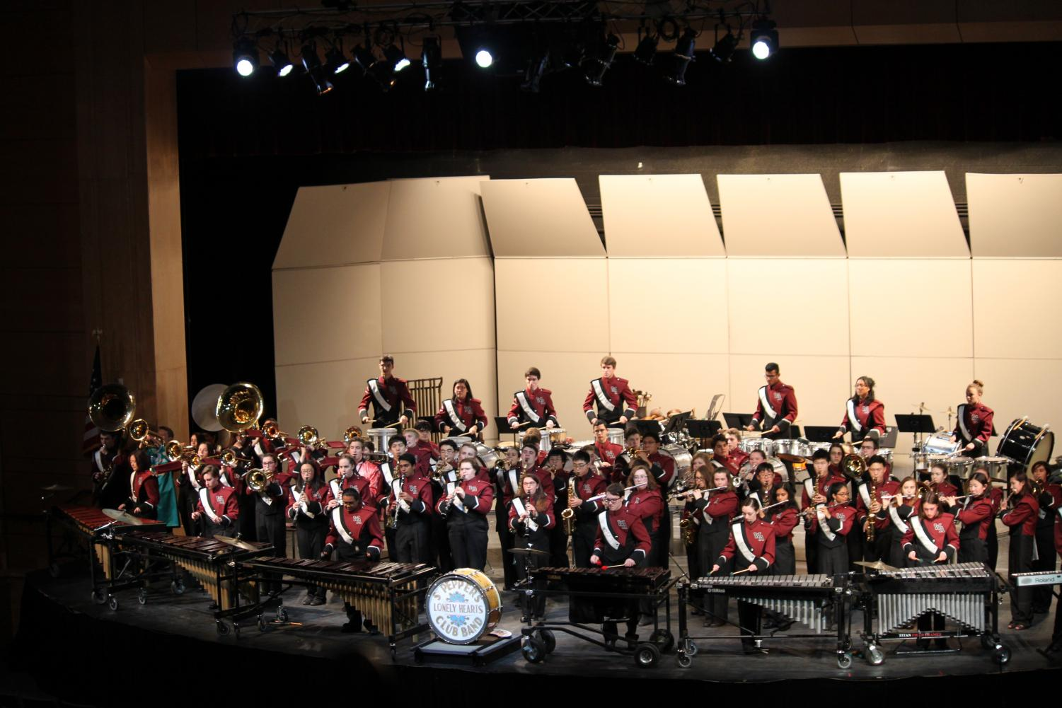 The+WA+Marching+Band+opens+the+show+with+%27Sgt.+Pepper%27.
