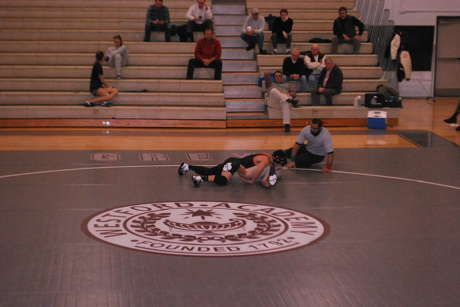 Freshmen+student+Kyle+Doherty+becomes+close+to+getting+pinned.