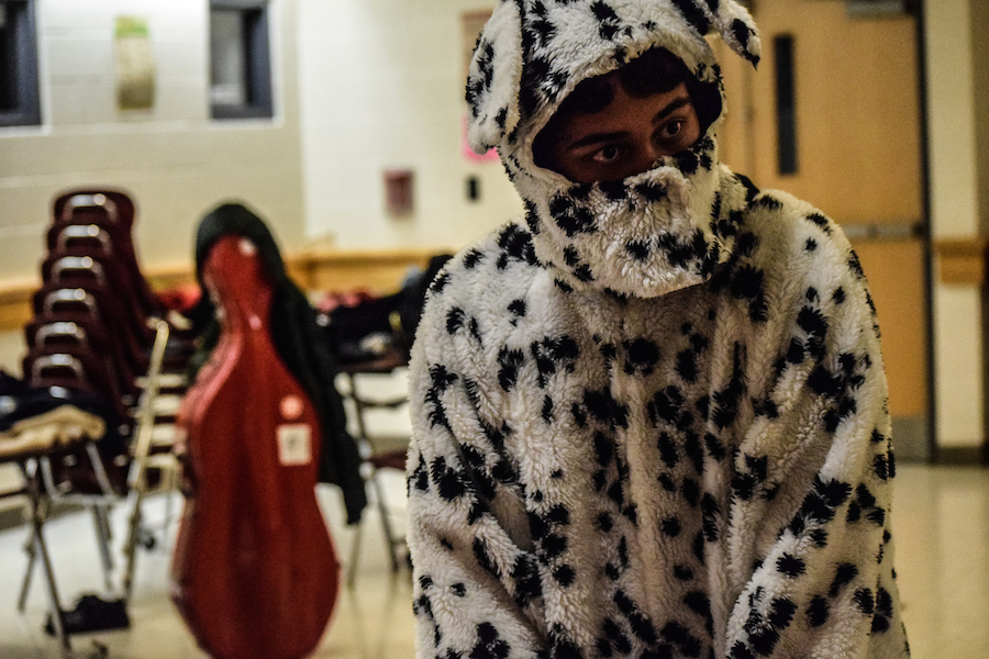 Student+Sriharsha+Ayyagary+gets+ready+to+sell+raffle+tickets+in+a+dalmatian+suit+for+the+year+of+the+dog.