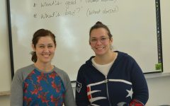Health teacher Melanie Jozokos and English teacher Kyle Kucaj. The two heads of the new class ready to empower women