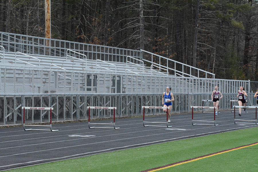 During+a+heat+of+girls%27+varsity+hurdles%2C+Acton-Boxboro+is+ahead%2C+but+there+is+hope+that+Westford+Academy+will+pull+ahead.