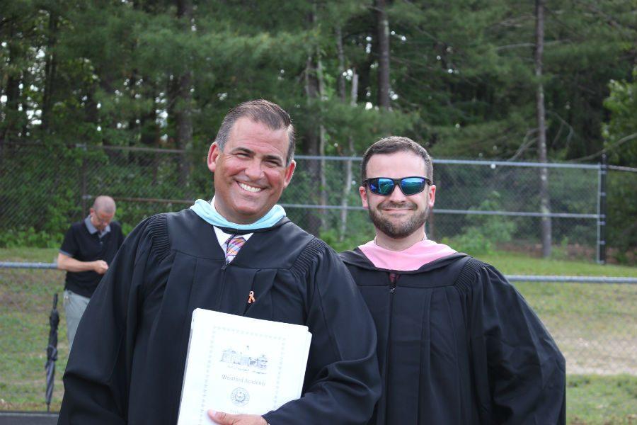 Principal+Jim+Antonelli+and+Band+Director+George+Arsenault+prepare+to+begin+graduation.