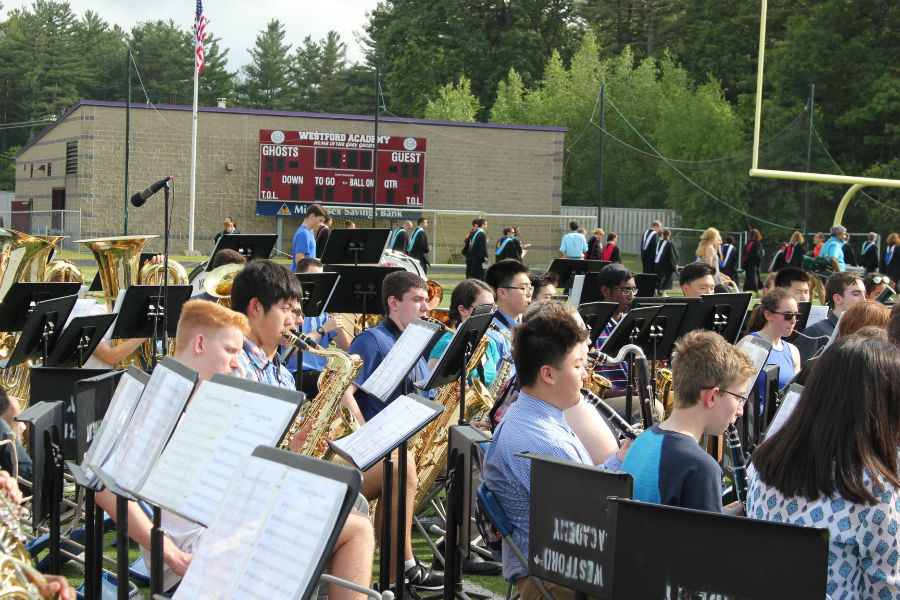Westford+Academy%27s+band+performs+to+open+the+ceremony.