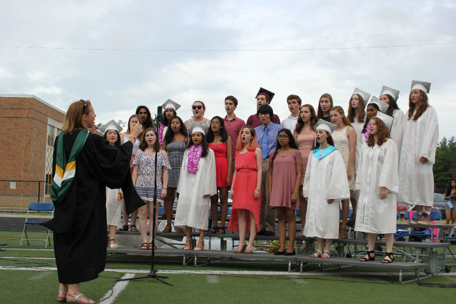 The+Honors+Choir+performs+Westford+Academy%27s+Alma+Mater.
