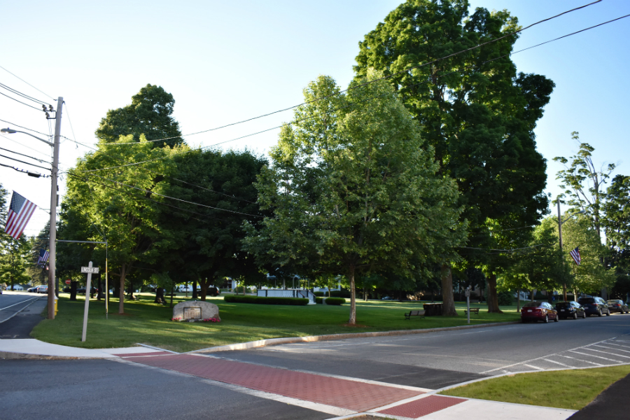 The Town Common facing Lincoln Street.