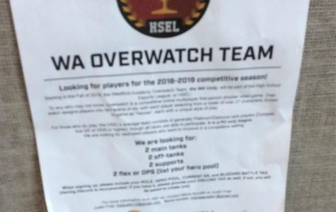 Announced Overwatch Team marks beginning of E-Sports future at WA