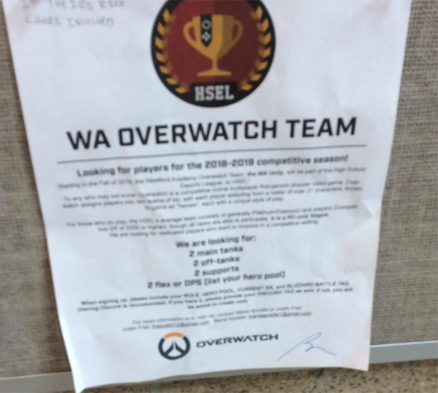 Announced+Overwatch+Team+marks+beginning+of+E-Sports+future+at+WA